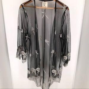 Haute Project Sheer Kimono Cardigan